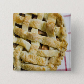 USA, Illinois, Washington, Apple pie 15 Cm Square Badge