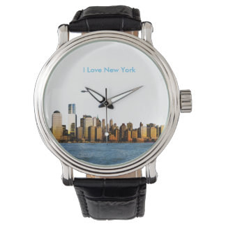 USA image for Black Vintage Leather Watch