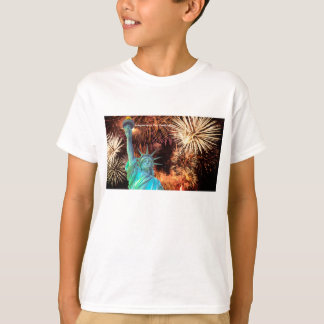 USA Image for boy's-white-t-shirt T-Shirt