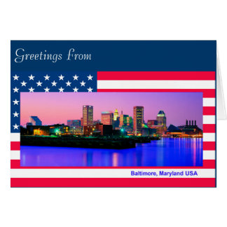 USA image for greeting-card Card