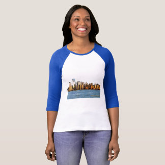 USA image for Women's-3-4-Sleeve-Raglan-T-Shirt T-Shirt