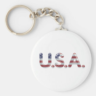 USA in chrome lettering Keychain
