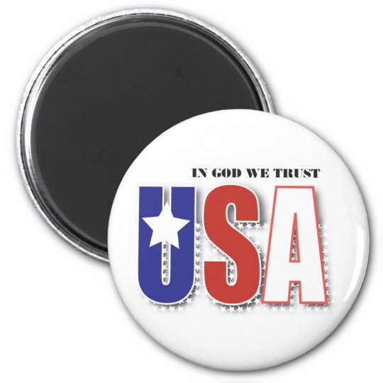 "USA ""In God We Trust"" Magnet"