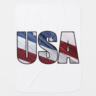 USA in Red White and Blue American Patriotic Flag Buggy Blankets