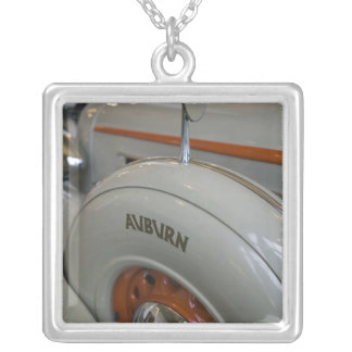 USA, Indiana, Auburn: Auburn, Cord, Duesenberg 13 Silver Plated Necklace