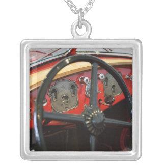 USA, Indiana, Auburn: Auburn, Cord, Duesenberg 2 Silver Plated Necklace