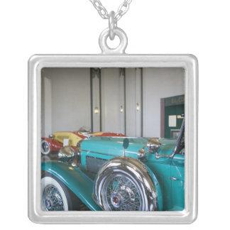 USA, Indiana, Auburn: Auburn, Cord, Duesenberg 3 Silver Plated Necklace