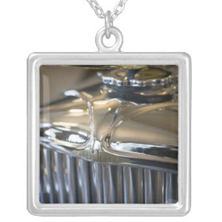 USA, Indiana, Auburn: Auburn, Cord, Duesenberg 5 Silver Plated Necklace