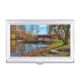 USA, Indiana, Cataract Falls State Recreation Business Card Holder