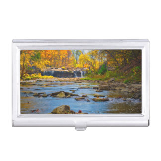 USA, Indiana. Cataract Falls State Recreation Business Card Holder