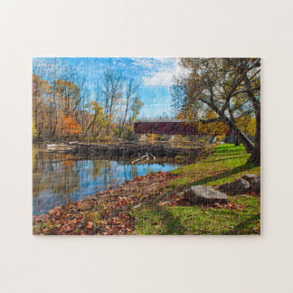 USA, Indiana, Cataract Falls State Recreation Jigsaw Puzzle