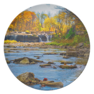 USA, Indiana. Cataract Falls State Recreation Plate