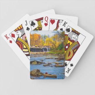 USA, Indiana. Cataract Falls State Recreation Poker Deck