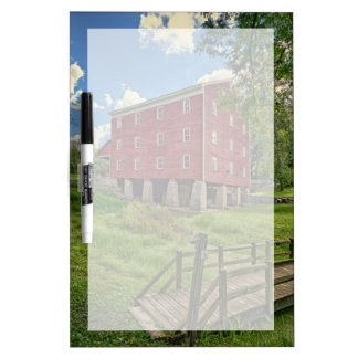 USA, Indiana, Cutler. Adams Mill Dry Erase Board