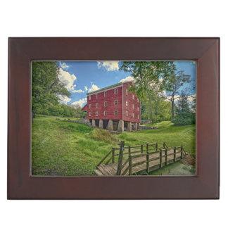 USA, Indiana, Cutler. Adams Mill Keepsake Box