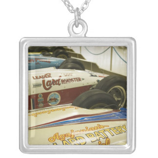 USA, Indiana, Indianapolis: Indianapolis Motor 3 Silver Plated Necklace
