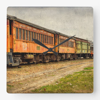 USA, Indiana. The North Mudson Railroad Museum Clock