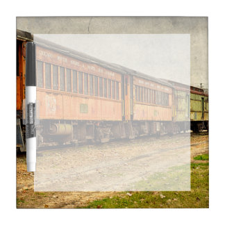 USA, Indiana. The North Mudson Railroad Museum Dry Erase Board