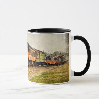 USA, Indiana. The North Mudson Railroad Museum Mug