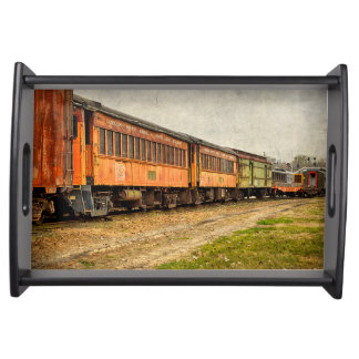 USA, Indiana. The North Mudson Railroad Museum Serving Tray