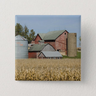 USA, IOWA, Froelich: Old farm 15 Cm Square Badge
