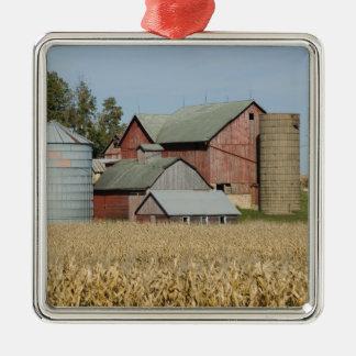 USA, IOWA, Froelich: Old farm Christmas Ornament