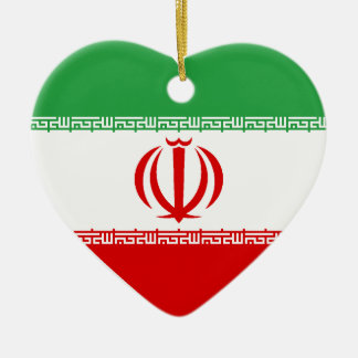 USA & Iran Flag Heart Ornament