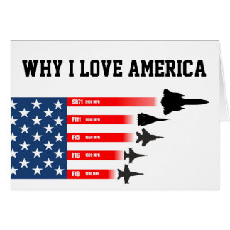 USA jet fighter aircraft: Reasons to love America Greeting Card
