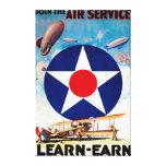 USA - Join the Air Service Learn-Earn Canvas Print