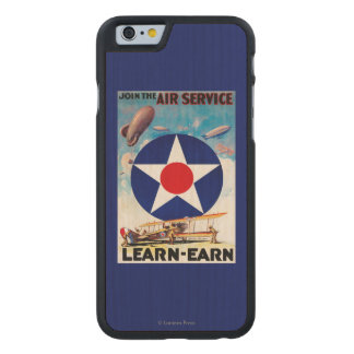 USA - Join the Air Service Learn-Earn Carved Maple iPhone 6 Case