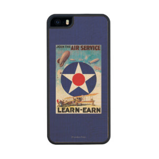 USA - Join the Air Service Learn-Earn Carved® Maple iPhone 5 Case