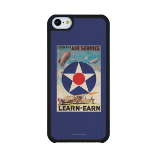 USA - Join the Air Service Learn-Earn Carved® Maple iPhone 5C Slim Case