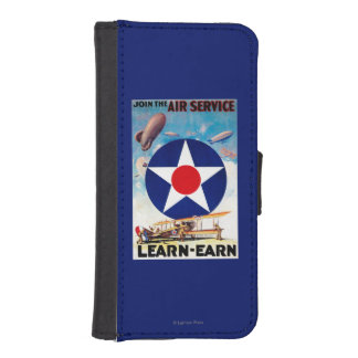 USA - Join the Air Service Learn-Earn iPhone SE/5/5s Wallet Case