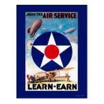 USA - Join the Air Service Learn-Earn Postcard