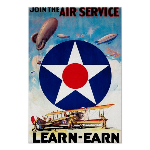 USA - Join the Air Service Learn-Earn Poster