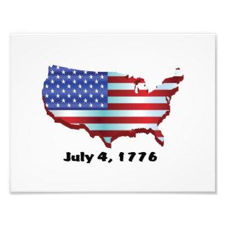 USA july 4 1776 Photographic Print