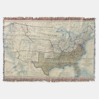 USA June 1864 Throw Blanket