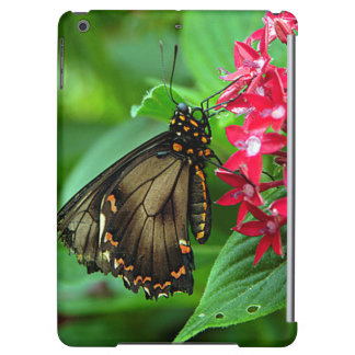 USA, Kansas, Butterfly On Red Flowers Case For iPad Air