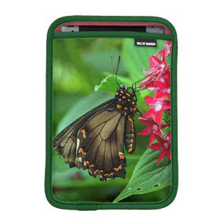 USA, Kansas, Butterfly On Red Flowers iPad Mini Sleeve