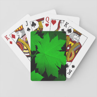 USA, Kansas, Oak Leaves In The Light Playing Cards