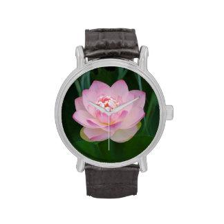 USA, Kansas, Pink Water Lilly Wrist Watch