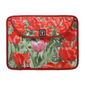 USA, Kansas, Red Tulips With One Pink Tulip Sleeve For MacBook Pro