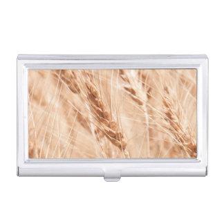 USA, Kansas, Wheat At Harvest Time Business Card Holder