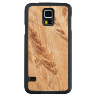 USA, Kansas, Wheat At Harvest Time Carved Maple Galaxy S5 Case