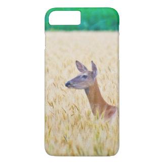 USA, Kansas, White Tail Doe Crossing Wheat iPhone 8 Plus/7 Plus Case