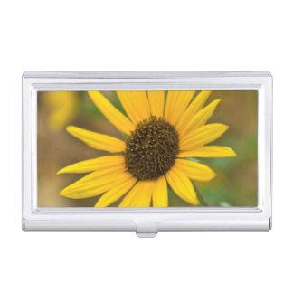 USA, Kansas. Wild Sunflower Business Card Holder