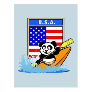 USA Kayaking Panda Postcard