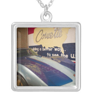 USA, Kentucky, Bowling Green: National Corvette 2 Silver Plated Necklace