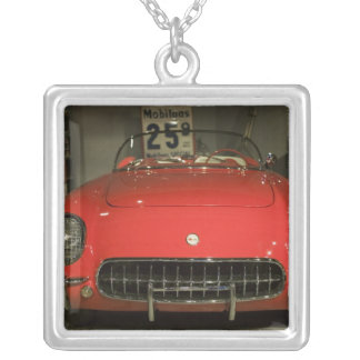 USA, Kentucky, Bowling Green: National Corvette 3 Silver Plated Necklace