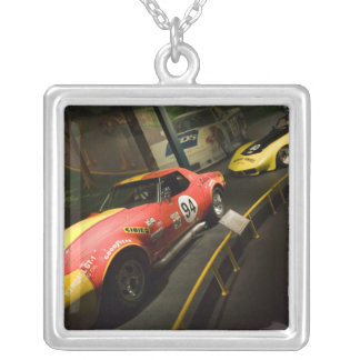 USA, Kentucky, Bowling Green: National Corvette 4 Silver Plated Necklace